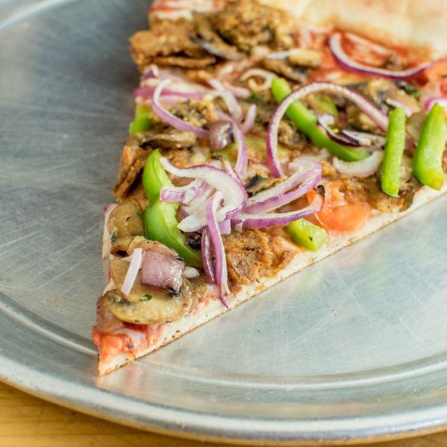 Vegan Sausage Pizza at Ian's Pizza