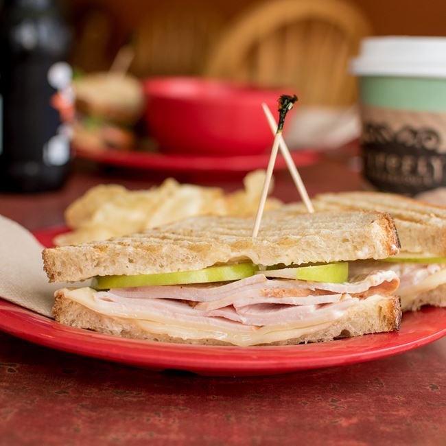 Turkey Maple Panini at Firefly Coffeehouse