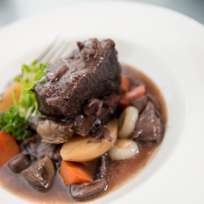 Burgundy Braised Short Ribs at Chives Door County
