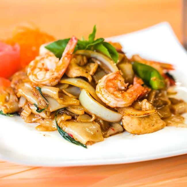 Drunken Noodles at Nisa Thai Asian Cuisine