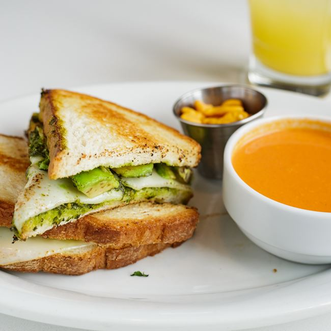 Green Goddess Grilled Cheese at Bassett Street Brunch Club