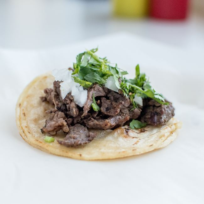 Bistec Taco at The Laughing Taco