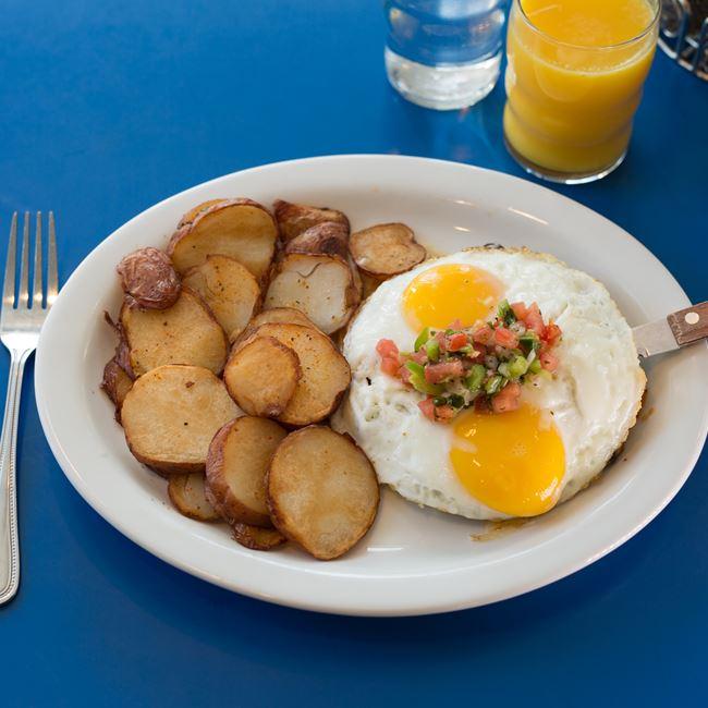 Huevos Rancheros at Monty's Blue Plate Diner