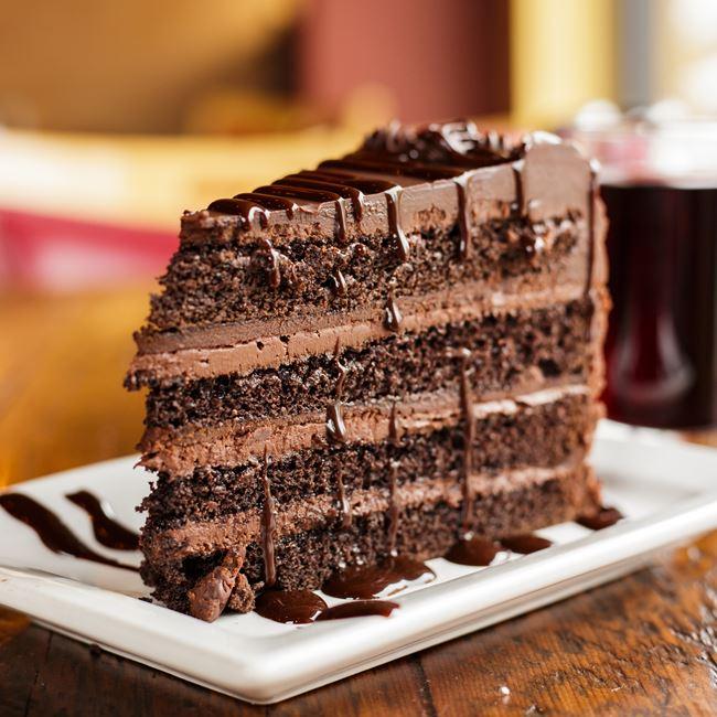 Chocolate Cake at Luigi's Pizza
