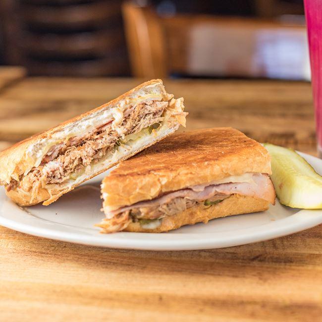 The Original Cuban Sandwich at Livery Restaurant aka Cowtown Saloon
