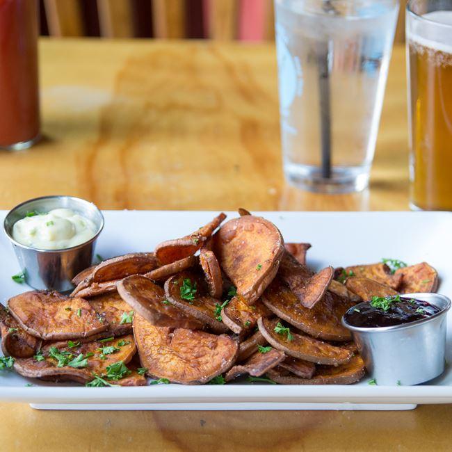 Sweet Potato Fries at Alchemy Cafe