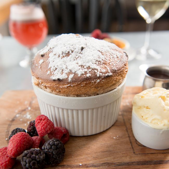 Chocolate Souffle for Two at Chives Door County