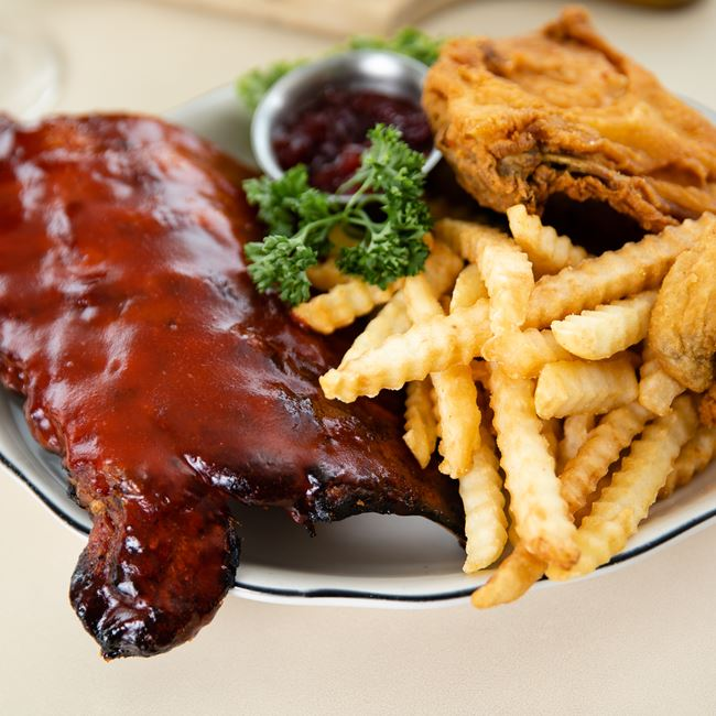 Broasted Chicken and Ribs