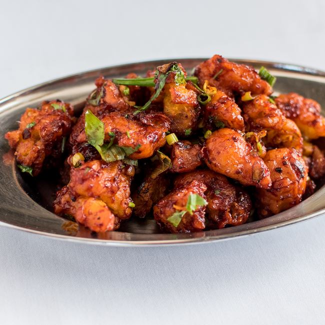 Gobhi with Manchurian Sauce at Dhaba Indian Bistro