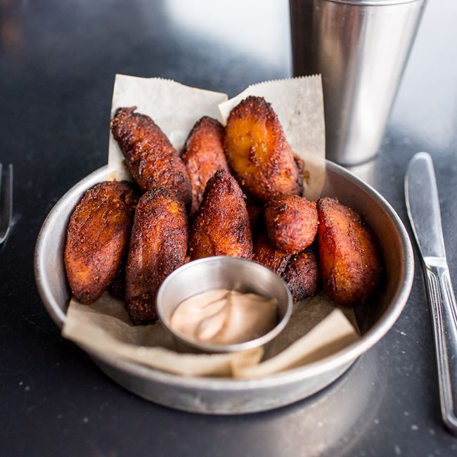 Fried Sweet Plantains at Work & Class