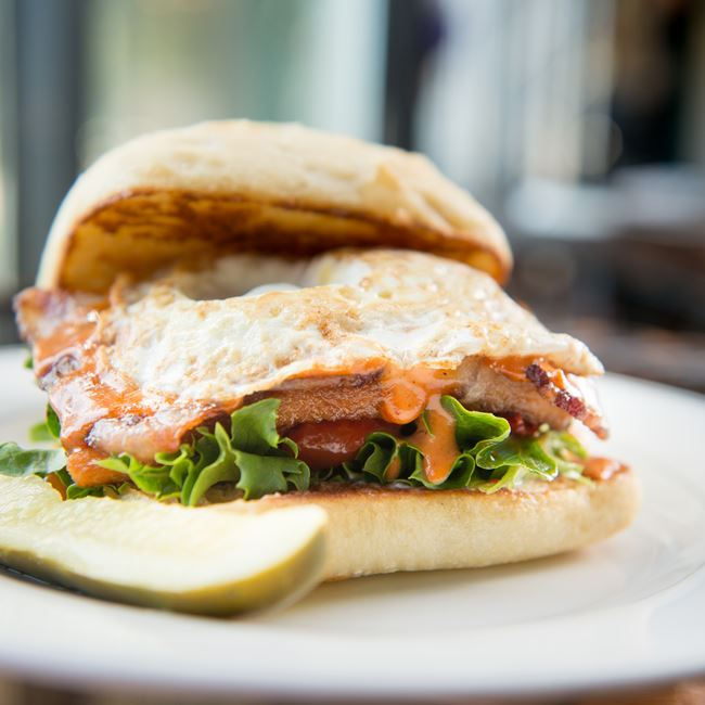 Pblt Sandwich at Waterfront Mary's Bar & Grill