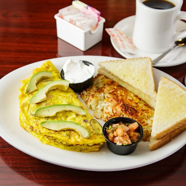 Spicy Mexicana Omelet at BB's (Build-a-Breakfast/Build-a-Burger)