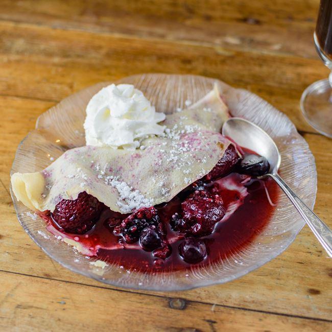 Fruit Basket Crepes at Cream & Crepe Cafe