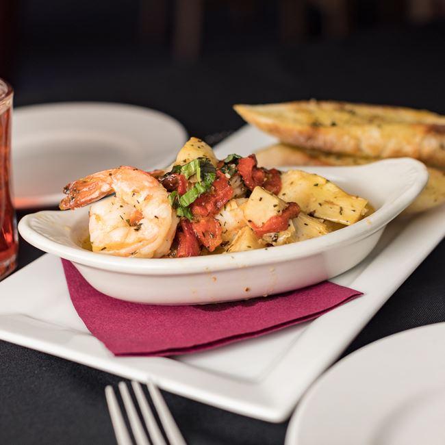 Tuscan Shrimp Scampi at Draganetti's Ristorante