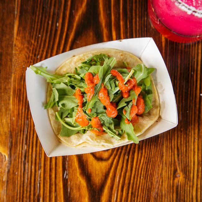Grilled Tuna Taco at Pasqual's Cantina
