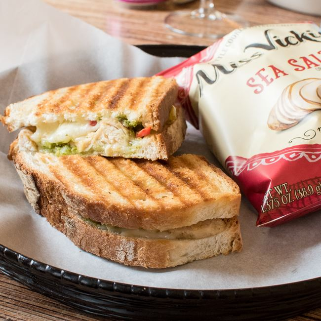 Chicken Panini Sandwich at Villa Dolce Cafe