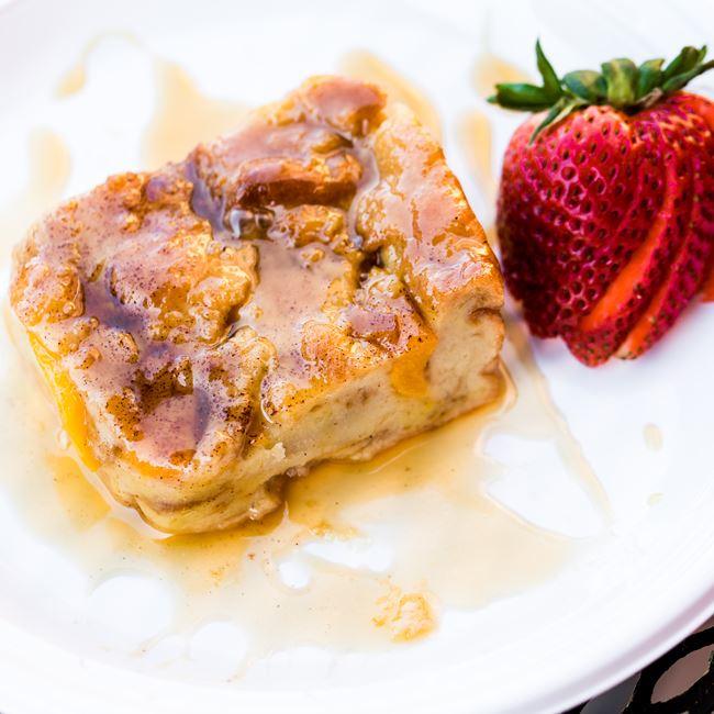Peach Bread Pudding at Big Herm's Kitchen