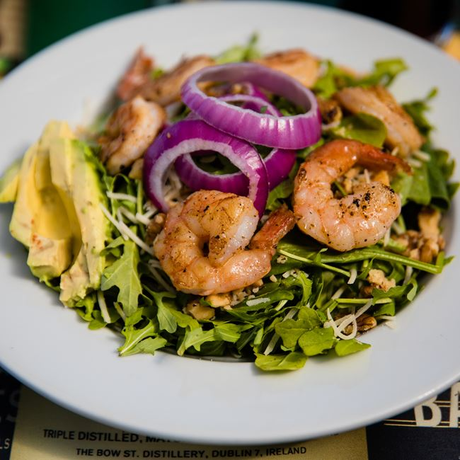 Dublin Jumbo Shrimp Salad at Kitty O'Reillys Irish Pub