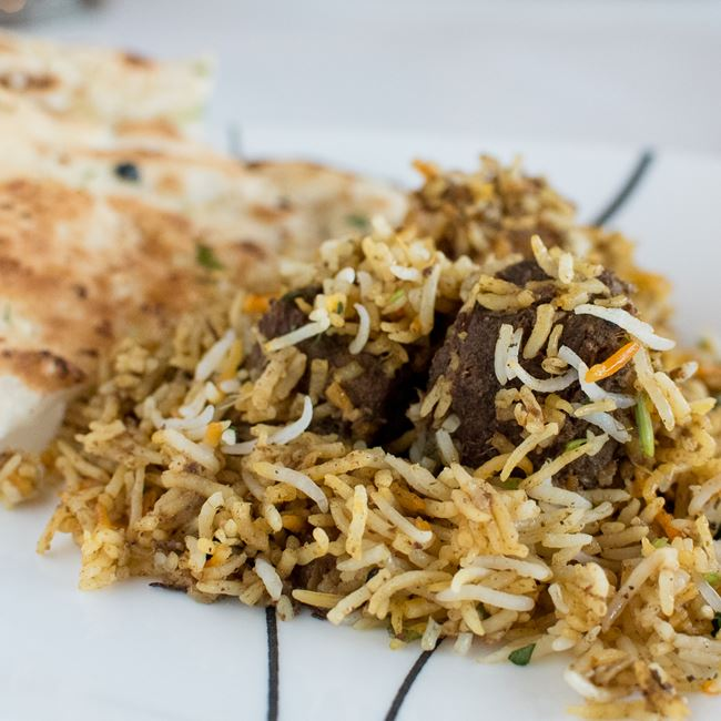Goat Biriyani at Amber Indian Cuisine