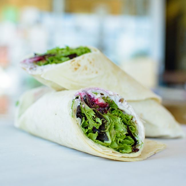 Cranberry Turkey Wrap at Out & Out