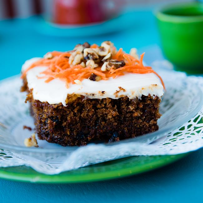Our Famous Carrot Cake at Village Cafe