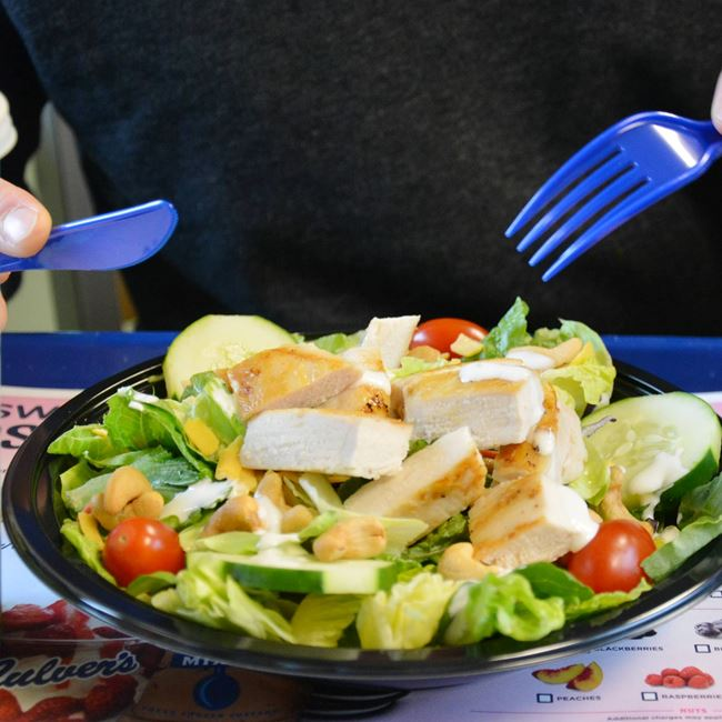 Chicken Cashew with Grilled Chicken Salad at Culver's