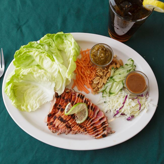 Ahi Tuna Lettuce Wraps at Shamrock Pub-n-Eatery