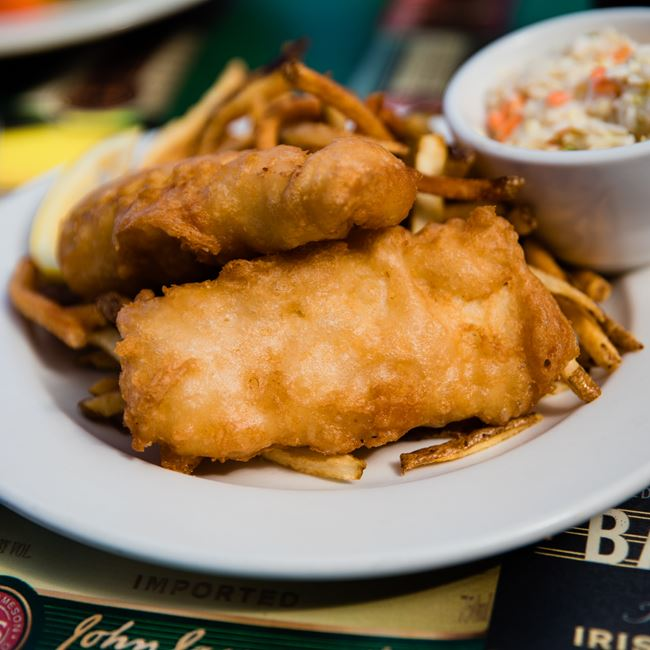 Fish and Chips at Kitty O'Reillys Irish Pub
