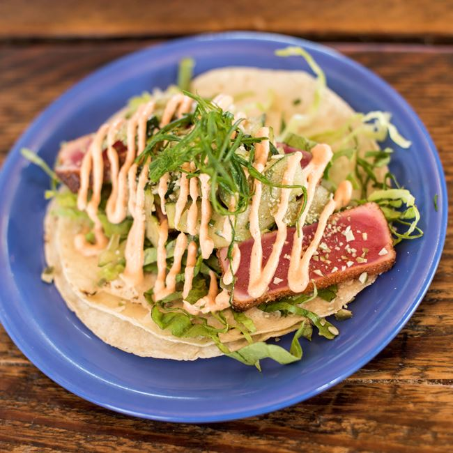 Seared Ahi Tuna Taco at BelAir Cantina