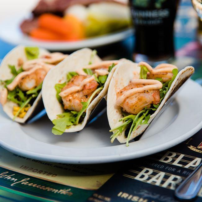 Shrimp Tacos at Kitty O'Reillys Irish Pub