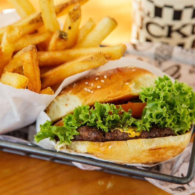 Classic Burger at The Ruckus