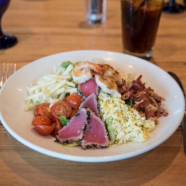 Seafood Cobb Salad at Bonfyre American Grille