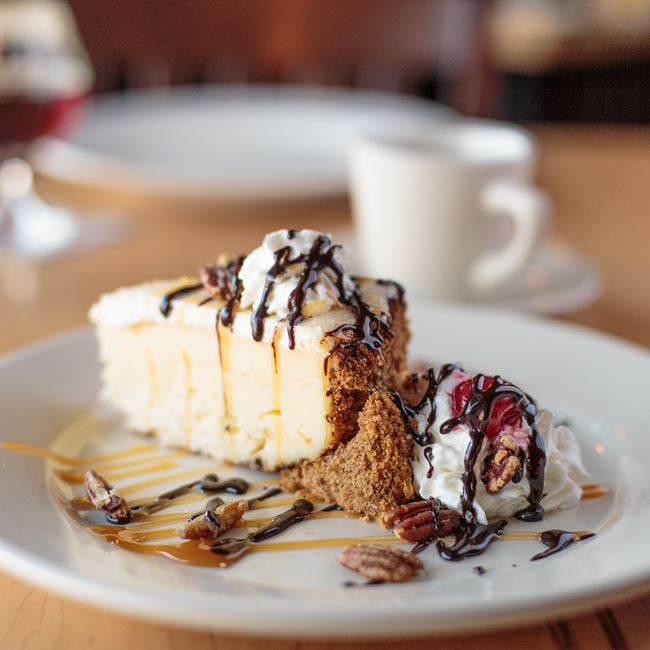 Turtle Cheesecake at St. Francis Brewery & Restaurant
