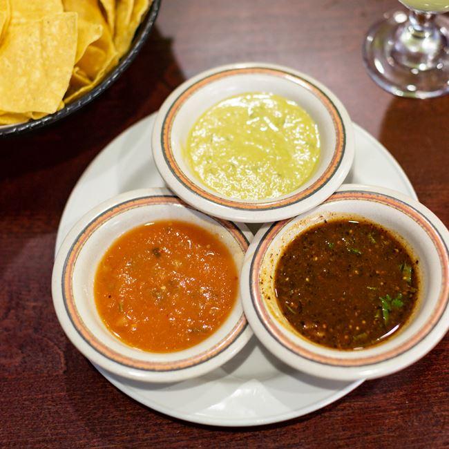Three salsas at Acapulco Mexican Restaurant