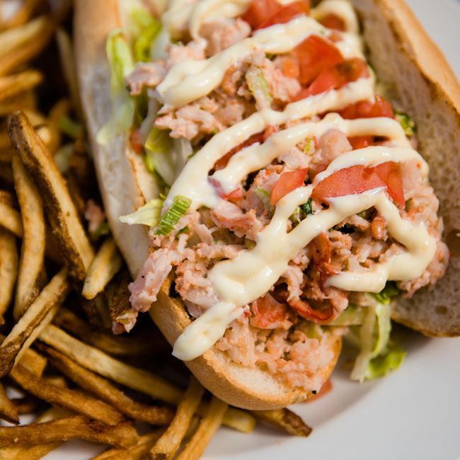 Lobster Boat Sandwich at Kitty O'Reillys Irish Pub