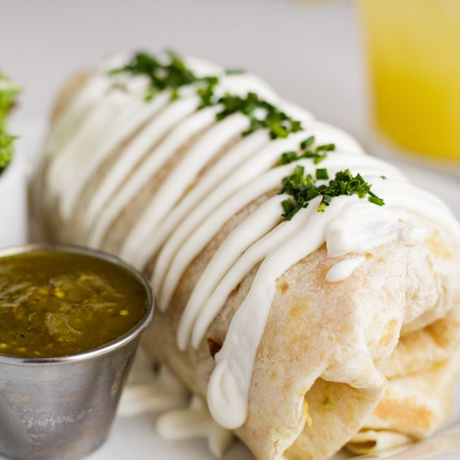 Hot to Tot Burrito at Bassett Street Brunch Club