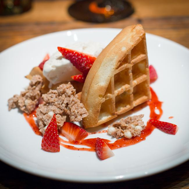 Strawberry Belgian Waffle at Distil