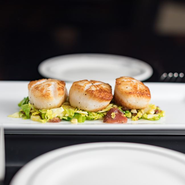 Pan Seared Sea Scallops at Johnny's Italian Steakhouse