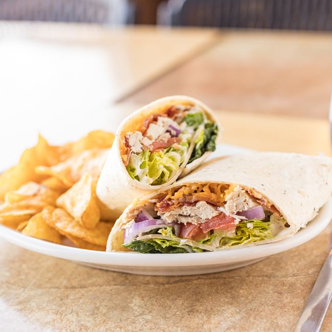 Chicken Bacon Ranch Wrap  at Foster Cheese Haus