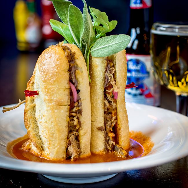 Torta Ahogada at Jackson's Blue Ribbon Pub