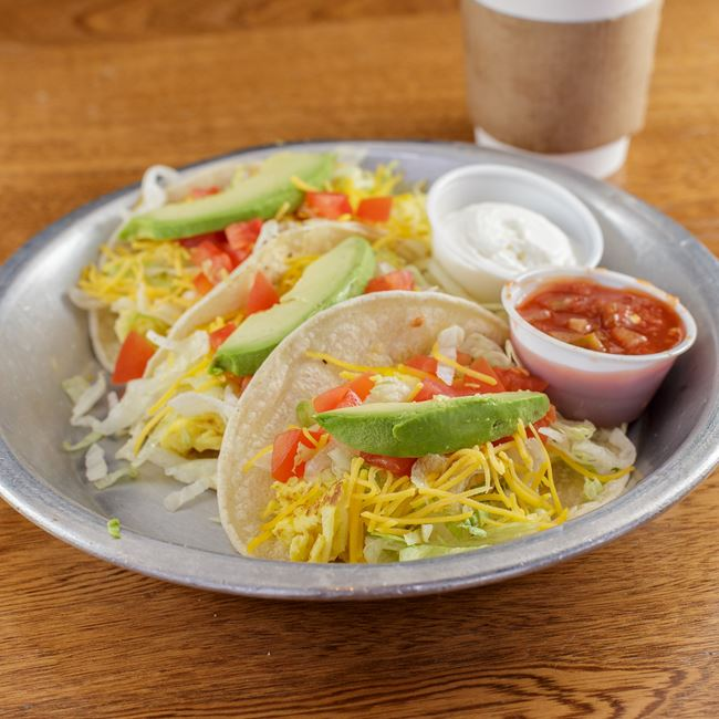Veggie Breakfast Tacos at Cranky Al's