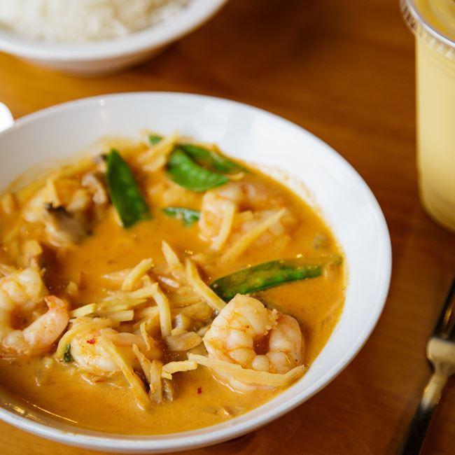 Red Curry with Shrimp at Curry in the Box