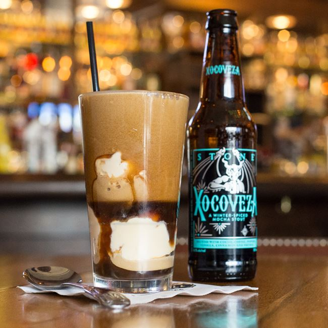 Adult Beer Float at Miller Time Pub & Grill