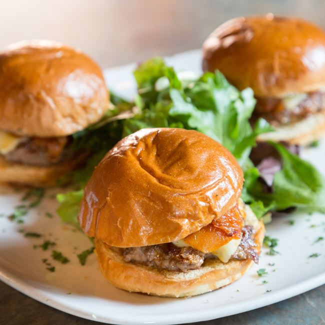 Tres Carnes Sliders at Off Broadway Drafthouse