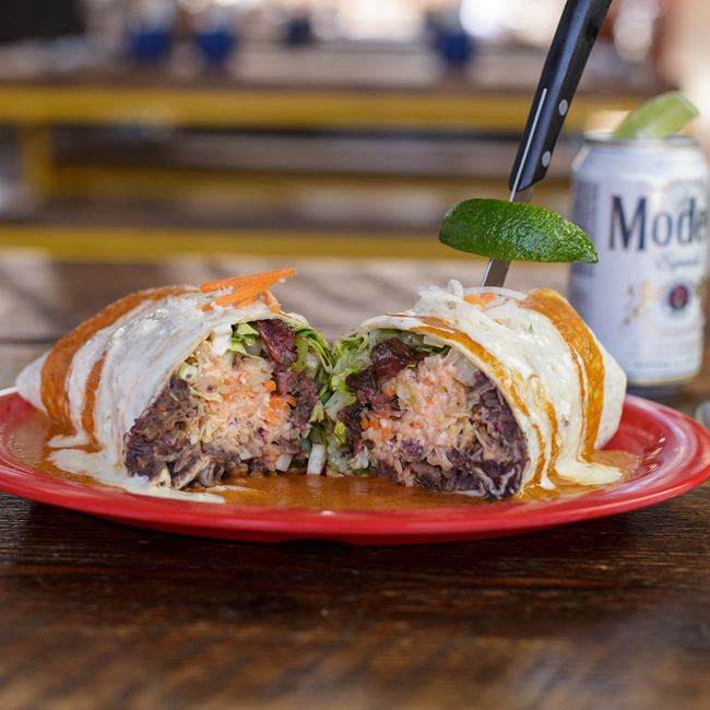 Korean Beef Burrito at BelAir Cantina