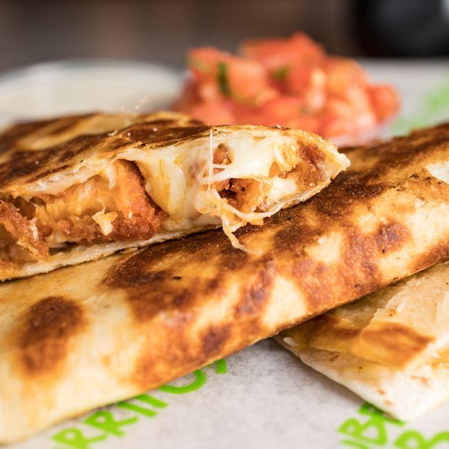 Quesadilla at Bubbakoo's Burritos