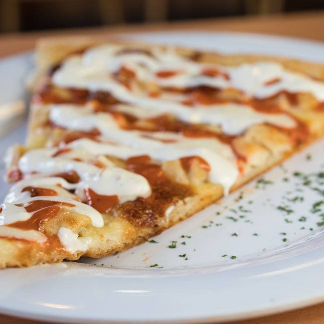 Buffalo Chicken Pizza at Nuebies Pizza