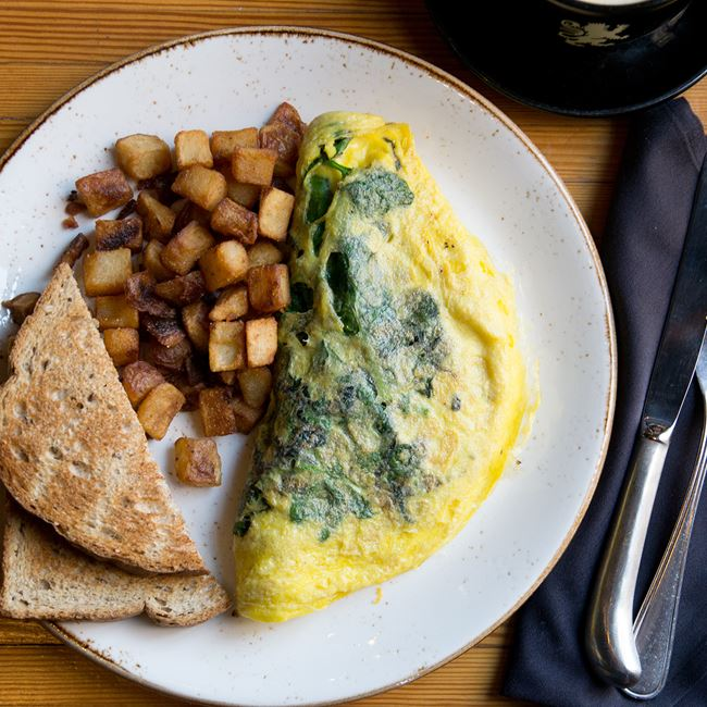 Green Torpedo Omelet at Benelux Grand Cafe & Market