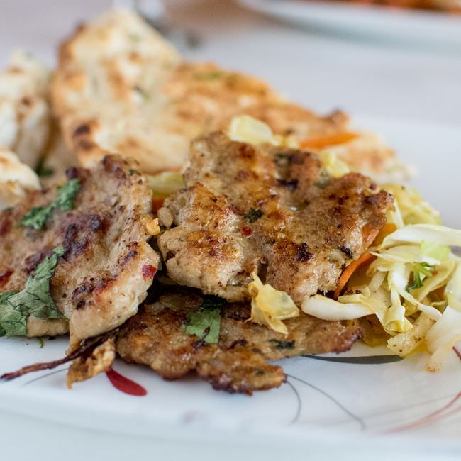 Chapli Kebab at Amber Indian Cuisine