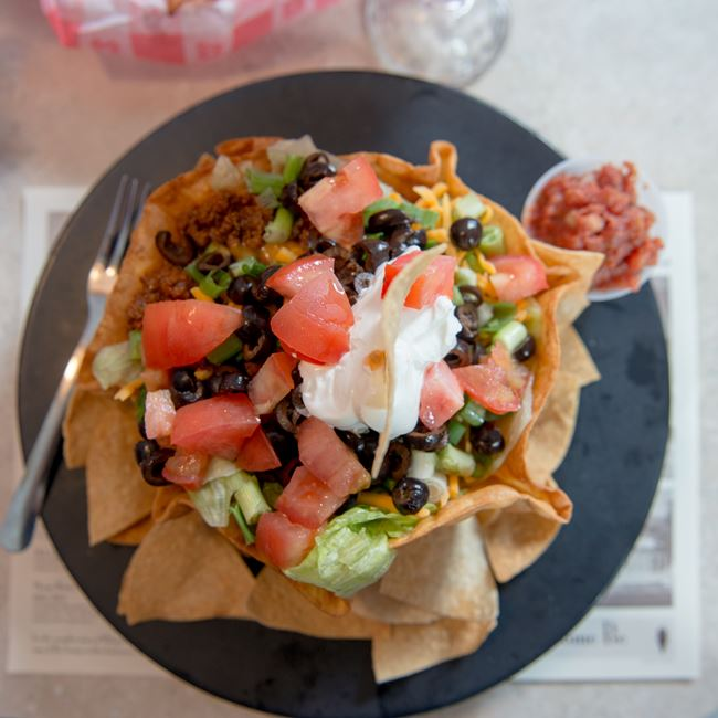 Taco Salad at Wilson's Restaurant & Ice Cream Parlor